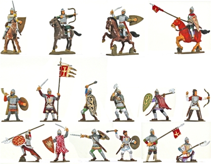 Medieval Russian Knights - Fully painted