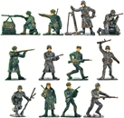 World War II Russian Infantry - Painted Figures