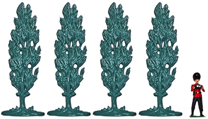 Cypress Trees - set of 4