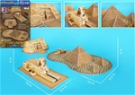 Egyptian Sphinx with Pyramid and Temple