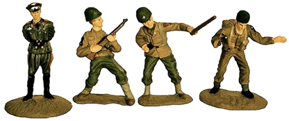 WW II Character Figures - Fully painted version