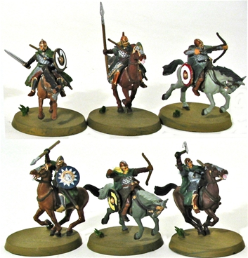 Mounted Riders of Rohan - 1 fully painted figure