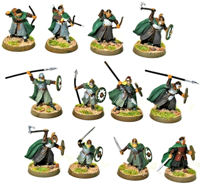 The Warriors of Rohan - 1 fully painted figure