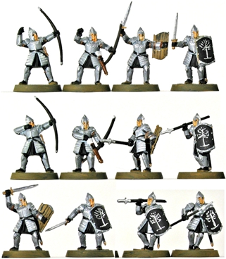 Warriors of Minas Tirith - 1 fully painted figure