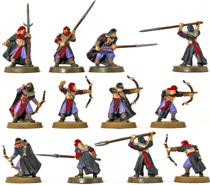 Haradrim Warriors - 1 fully painted figure