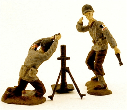 WW II U.S. Field Mortar Team -- Fully painted