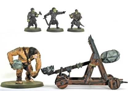 Mordor War Catapult with Troll - metal version