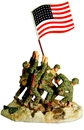 Raising the Flag on Iwo Jima - Full paint
