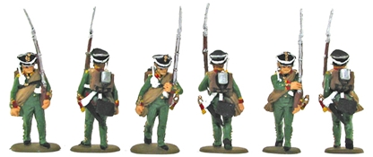 Russian Infantry Marching - basic painted