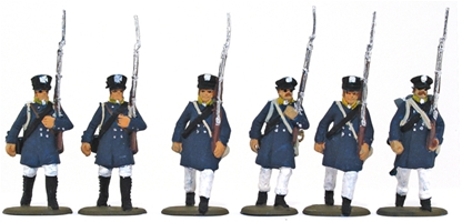 Prussian Landwehr on the March - fully painted