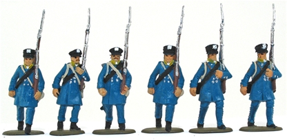 Prussian Landwehr on the March - basic painted