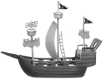 HO-Scale Pirate Ship