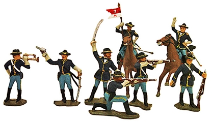 60mm U.S. Cavalry - 1876 - fully painted