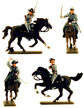 Mounted Confederate Cavalry - Fully painted