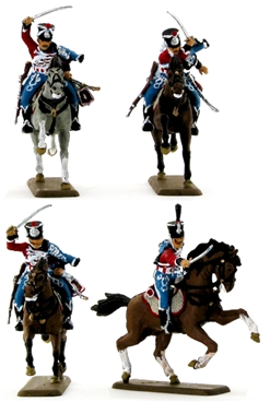 Napoleonic French Hussars - Fully painted