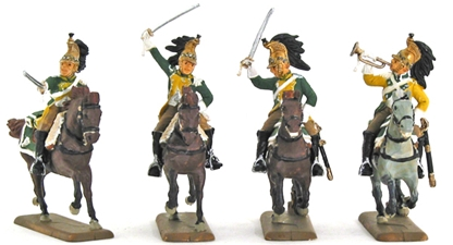 Napoleonic French Dragoons - Fully Painted