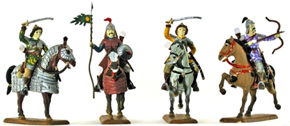 Mounted Mongols - Fully painted
