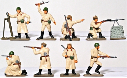 WWII Russian Infantry - Winter - Basic painted