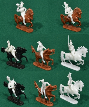 Napoleonic Prussian Cavalry 8 in 5 poses wi horses