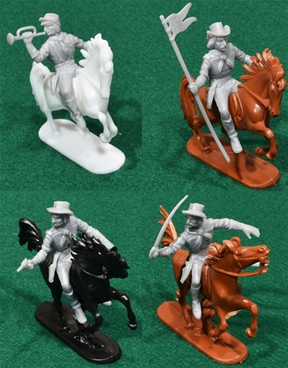 Confederate Cavalry - 10 without horses