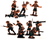 WWII Anzacs - Fully painted