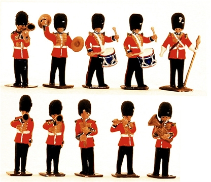 British Guards Marching Band - unpainted version