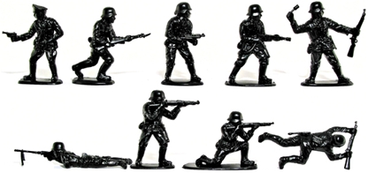 WWII German Infantry - SS black color - low stock!
