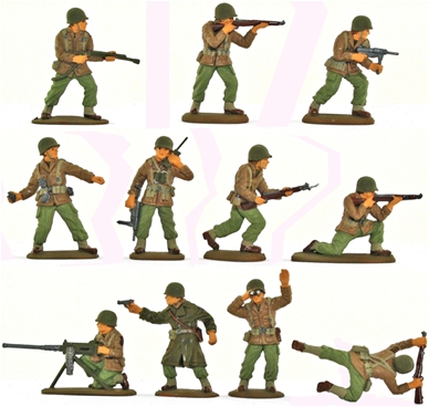 WWII U.S. Infantry - full paint 6 in 6 poses