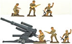 WWII Afrika Korps Artillerymen - Painted Animated
