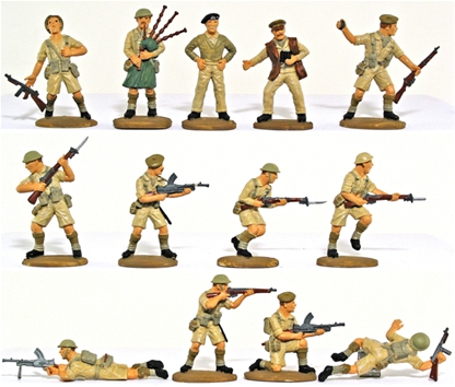 WWII British 8th Army - basic painted