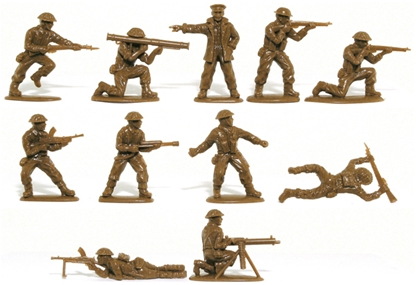 WWII British Infantry - retired service brown