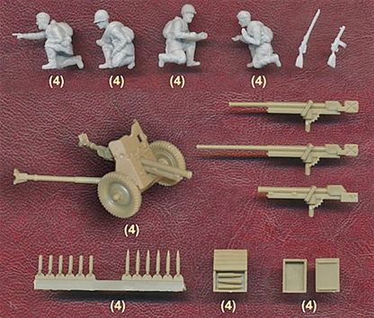 15mm WWII Russian 45mm Anti-Tank Teams