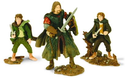 Pippin, Merry, Boromir replacement weapons & bases