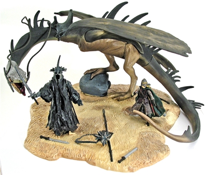 Fell Beast, Witch King and Eowyn - pre owned