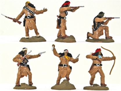 Apache Warriors set 1 - Basic painted