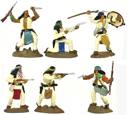 Apache Warriors set 2 - basic painted