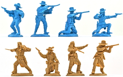 U.S. Cavalry and Scouts - blue & buckskin color