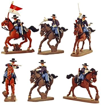 Mounted U.S. Cavalry - fully painted