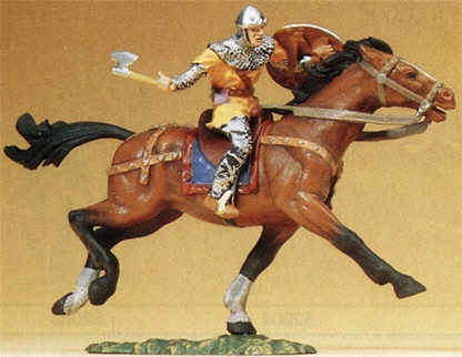 Mounted Norman Charging w Axe - 1 left