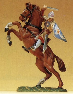 Mounted Norman Striking with Sword