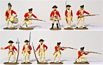 British Infantry - 1776 Set #1 - Basic Paint Job