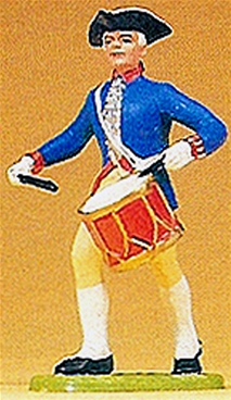 Prussian Marching Drummer Playing Side Drum