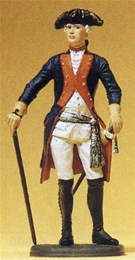 Prussian Officer with Cane and Sword