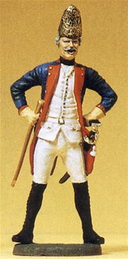 Prussian Junior Officer with Cudgel and Sword