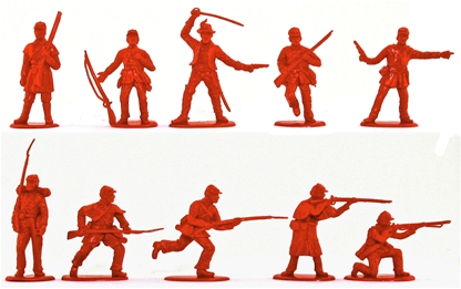 Civil War C.S.A.Infantry Set #1 - 20 in red