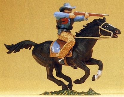 Mounted Cowboy Firing Rifle - 1 left