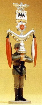 German Band Soldier with Crescent Standard