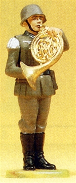 German Bandsman Playing French Horn