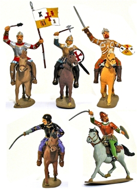 Mounted Conquistadors - Fully painted