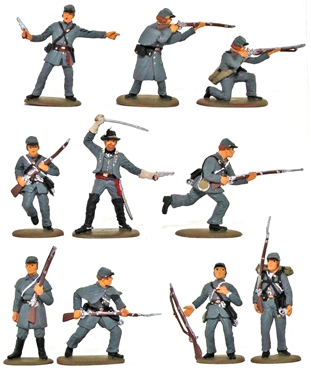 Confederate Infantry - Fully painted version